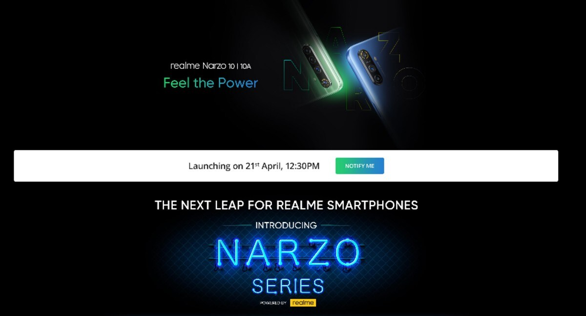 Realme Narzo 10, Realme Narzo 10A to Launch in India on April 21: How to Watch, Expected Price, Specifications