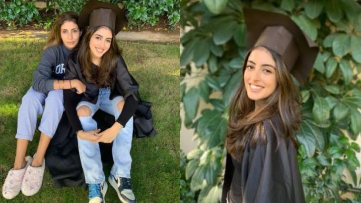 Shweta Bachchan Nanda hosts DIY graduation ceremony for daughter Navya Naveli at home, see lovely pics