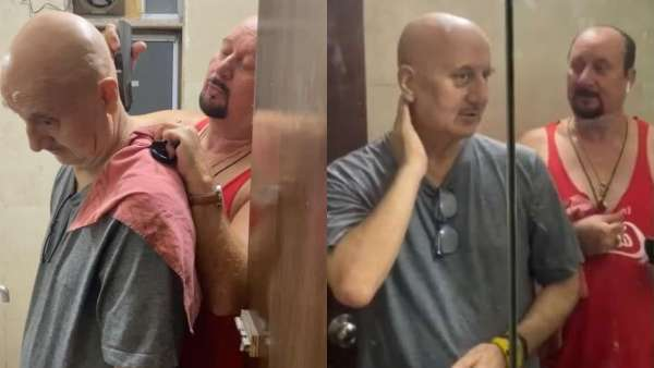 Anupam Kher Gets The 'Quickest Haircut'