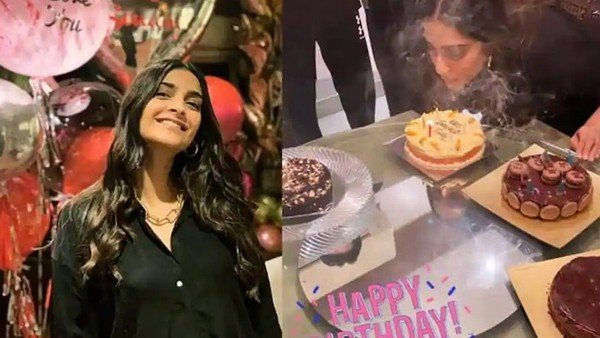 Sonam Kapoor's Midnight Birthday Bash Inside Pictures; Papa Anil Kapoor Wishes Her With Sweet Note