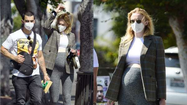 Sophie Turner Flaunts Baby Bump During A Stroll With Joe Jonas In LA
