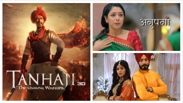 Latest TRP Ratings: World TV Premiere Of Tanhaji Tops The Chart; Anupamaa Drops To Second Place