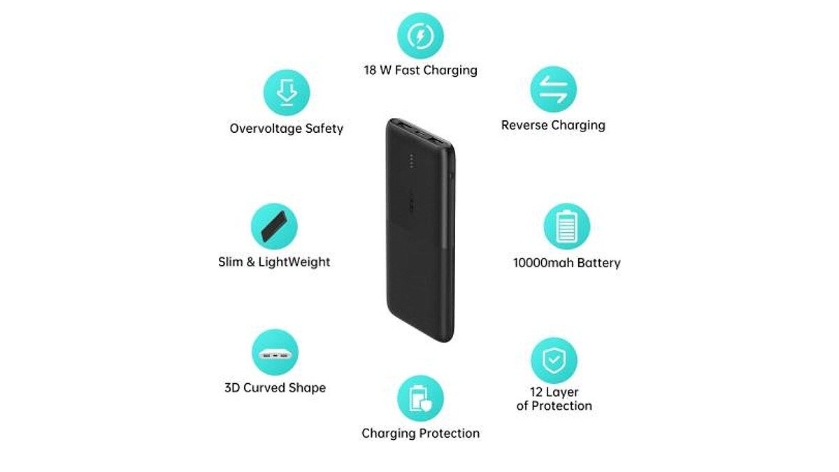 Oppo Power Bank 2 With 10,000mAh Capacity, 18W Fast Charging Launched in India, Priced at Rs. 1,299