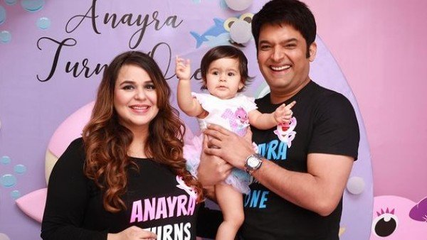 Kapil Sharma & Ginni Chatrath's Little Munchkin Turns One; Comedian Shares Adorable Pics From Anayra's Birthday Party