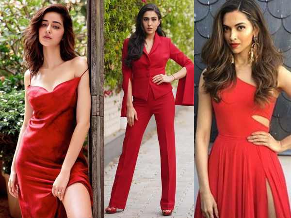 वैलेंटाइन डे- लाल ड्रेस में बॉलीवुड हसीनाएं | Valentine's Day: Bollywood actresses and their red hot look are unmissable, from Deepika Padkone to Sara Ali Khan