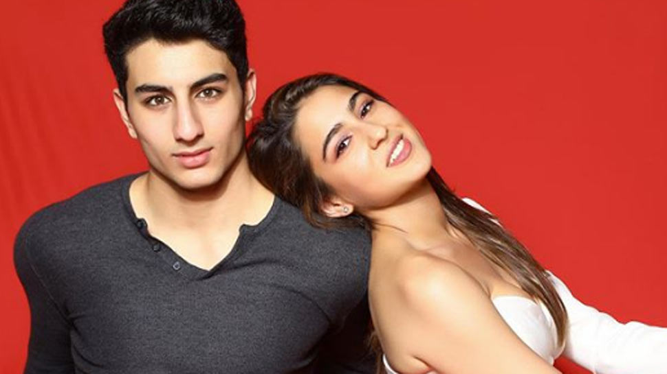 Ibrahim Ali Khan bullies sister Sara Ali Khan with a special face expression and this pic is proof!