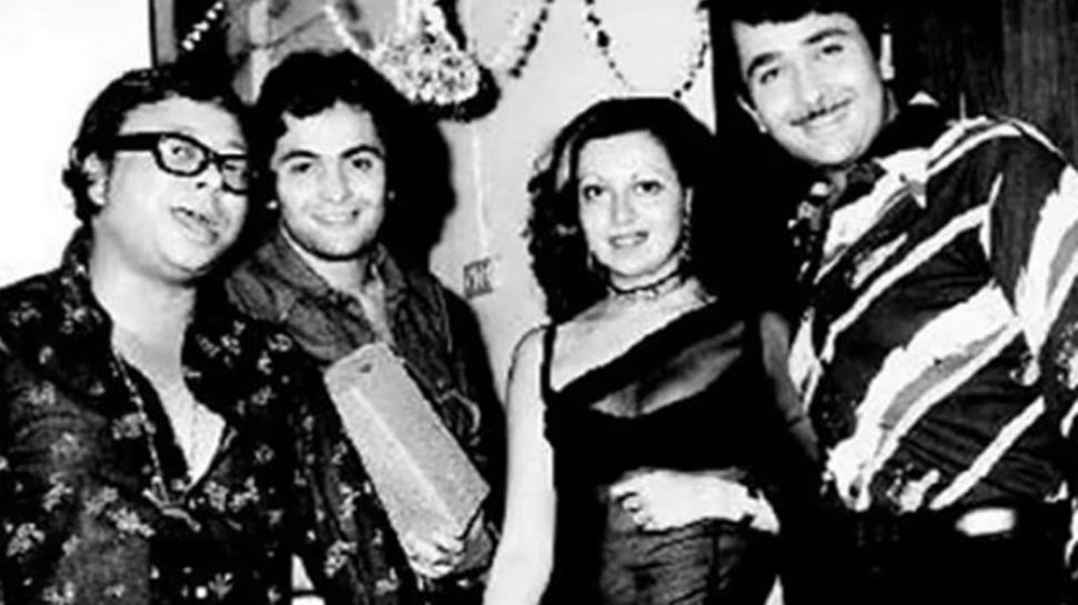 Kareena posts black and white unseen pic of 'irreplaceable' uncle Rishi Kapoor with dad Randhir, mom Babita and RD Burman!