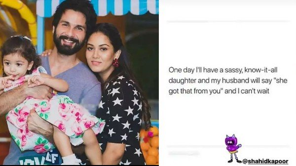 Mira Rajput's Message For Shahid Kapoor About Misha: One Day I'll Have A Sassy Know-It-All Daughter